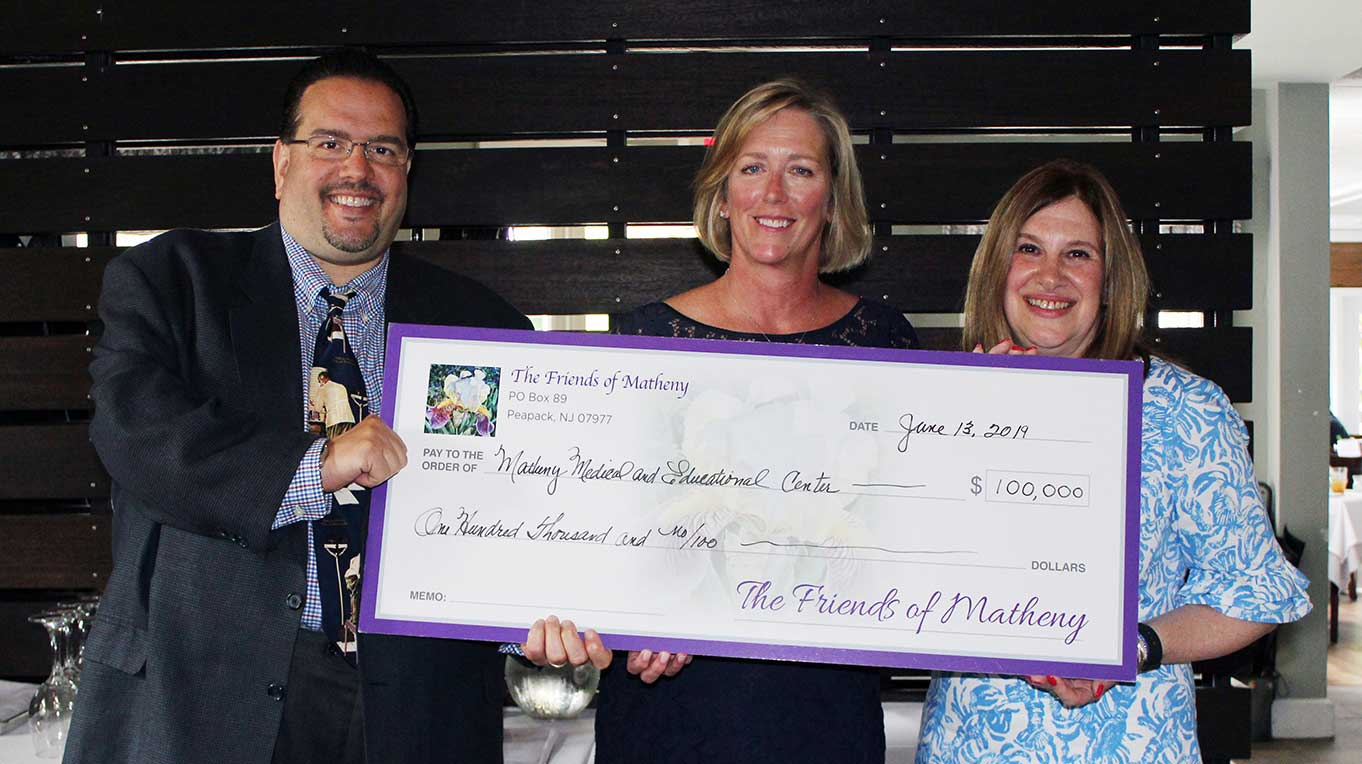 Friends of Matheny Receive Check